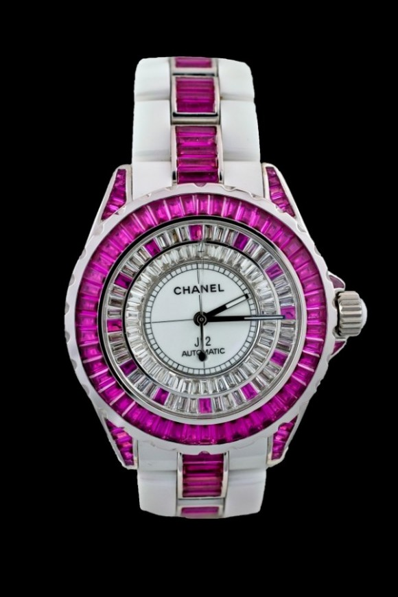 Chanel J 12 White Ceramic & Ruby
