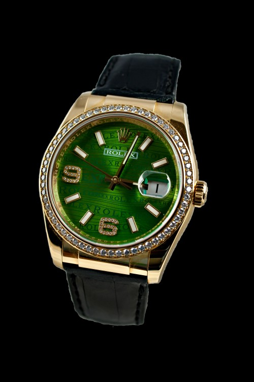 Rolex Green Wave Dial YG Diamond