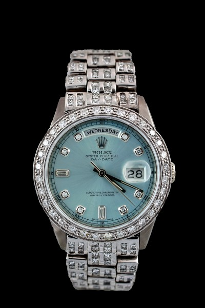 Rolex President 28 Karat Diamonds