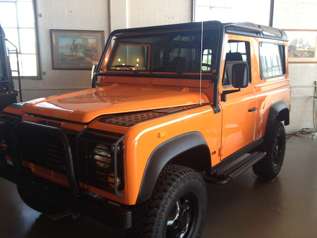 1997 Land Rover Defender 90 (Orange)