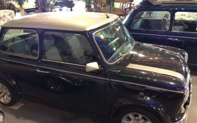 1975 Black w/ silver stripes Leyland Mini