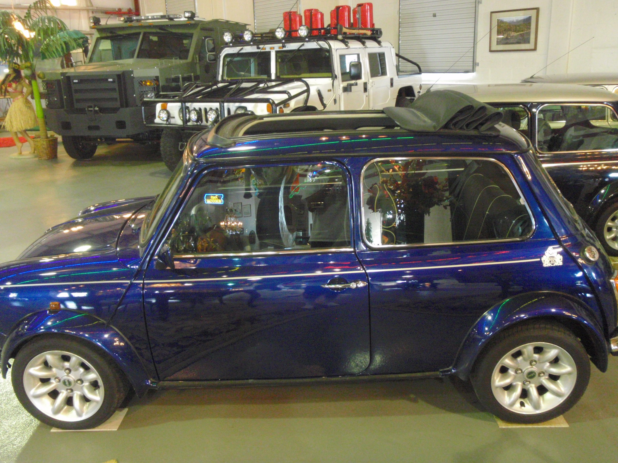1975 Blue Convertible Morris Mini