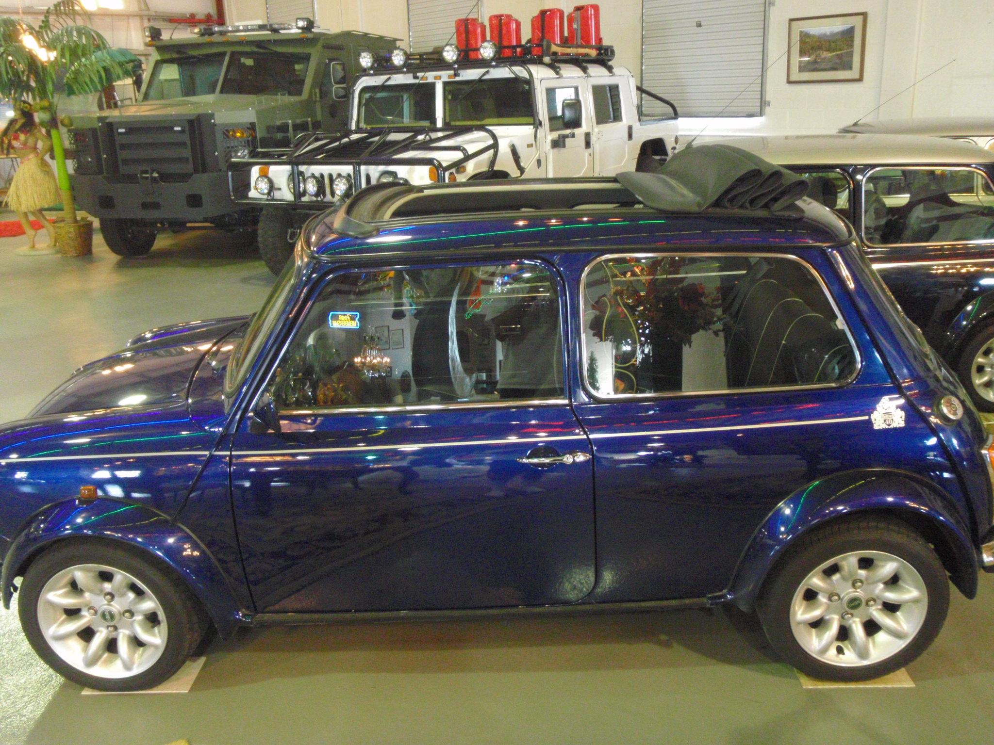 1975 Blue Convertible Morris Mini